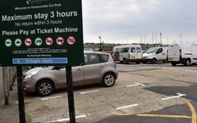 An announcement from Dorset Council about council car parks
