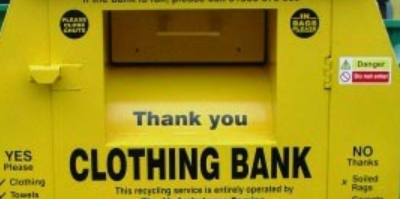Message from Dorset Council about recycled clothing banks